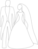 Bride And Groom Clip Art Image